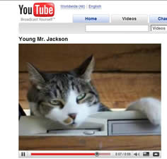 A screen capture of Young Mr. Jackson on Youtube.